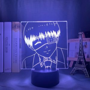 EYE PATCH KANEKI LED ANIME LAMP (TOKYO GHOUL) Otaku0705 TOUCH +(REMOTE) Official Anime Light Lamp Merch