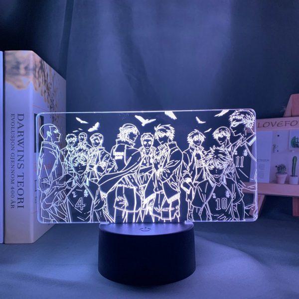 TEAM KARASUNO LED ANIME LAMP (HAIKYUU!!) Otaku0705 TOUCH Official Anime Light Lamp Merch