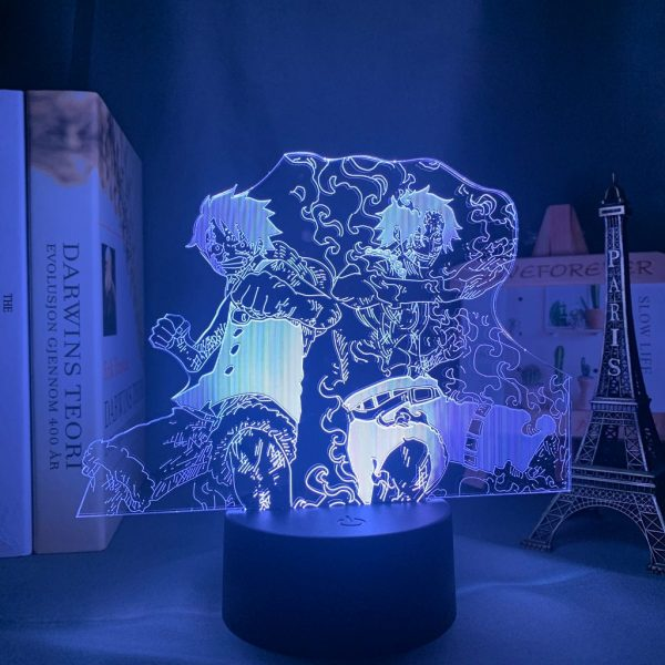 LUFFY AND PORTGAS+ LED ANIME LAMP (ONE PIECE) Otaku0705 TOUCH Official Anime Light Lamp Merch