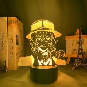 CHUUYA + LED ANIME LAMP (BUNGO STRAY DOGS) Otaku0705 TOUCH +(REMOTE) Official Anime Light Lamp Merch