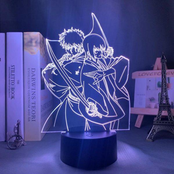 GINTOKI & TAKASUGI LED ANIME LAMP (GINTAMA) Otaku0705 TOUCH +(REMOTE) Official Anime Light Lamp Merch