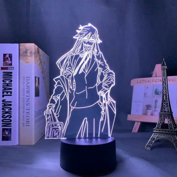GRELL SUTCLIFF LED ANIME LAMP (BLACK BUTLER) Otaku0705 TOUCH Official Anime Light Lamp Merch