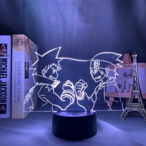 BLACK STAR & EVANS LED ANIME LAMP (SOUL EATER) Otaku0705 TOUCH Official Anime Light Lamp Merch