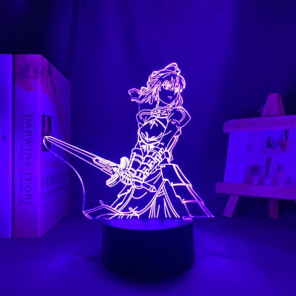 SABER SWORD LED ANIME LAMP (FATE/STAY NIGHT) Otaku0705 TOUCH +(REMOTE) Official Anime Light Lamp Merch