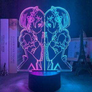 TWO TONE REM LED ANIME LAMP (RE:ZERO) Otaku0705 Default Title Official Anime Light Lamp Merch