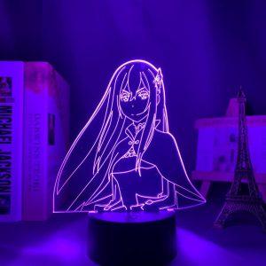 ECHIDNA + LED ANIME LAMP (RE:ZERO) Otaku0705 TOUCH +(REMOTE) Official Anime Light Lamp Merch
