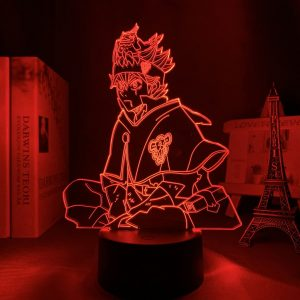ASTA CHILLING LED ANIME LAMPS (BLACK COVER) Otaku0705 TOUCH +(REMOTE) Official Anime Light Lamp Merch