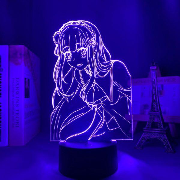 EMILIA + LED ANIME LAMP (RE:ZERO) Otaku0705 TOUCH +(REMOTE) Official Anime Light Lamp Merch
