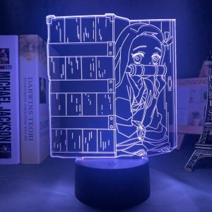 CAGED NEZUKO LED ANIME LAMP (DEMON SLAYER) Otaku0705 TOUCH Official Anime Light Lamp Merch