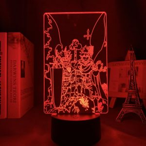 YUNO AND ASTA+ LED ANIME LAMPS (BLACK COVER) Otaku0705 TOUCH Official Anime Light Lamp Merch
