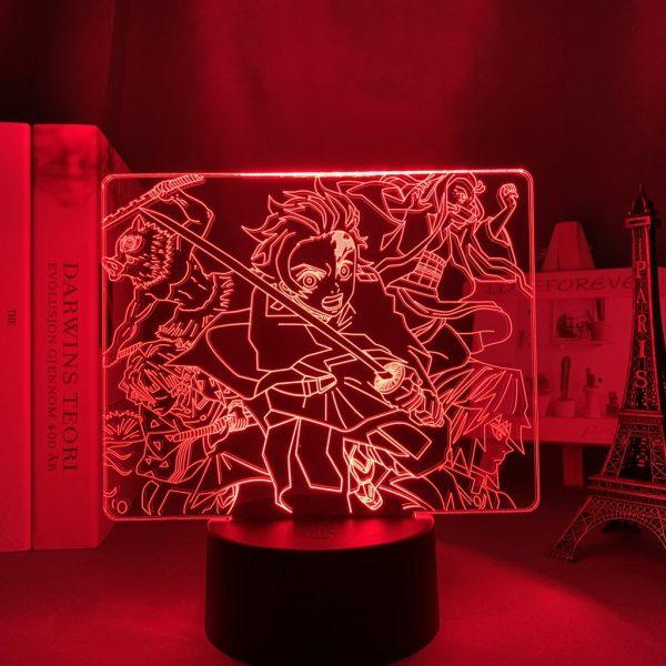 DEMON SLAYER LED ANIME LAMP (DEMON SLAYER) Otaku0705 TOUCH +(REMOTE) Official Anime Light Lamp Merch