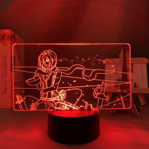 MIKASA'S SERENITY LED ANIME LAMP (ATTACK ON TITAN) Otaku0705 TOUCH +(REMOTE) Official Anime Light Lamp Merch