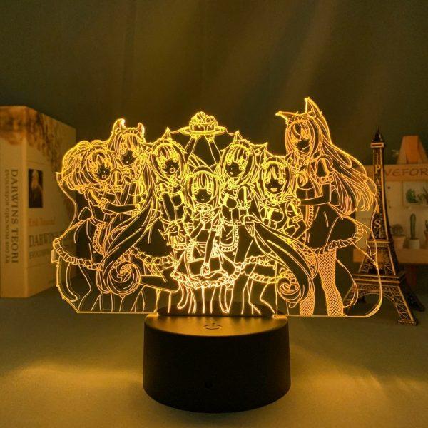 NEKOPARA GANG LED ANIME LAMP (NEKOPARA) Otaku0705 TOUCH Official Anime Light Lamp Merch
