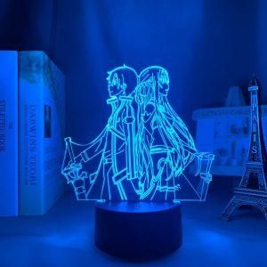 KIRITO + ASUNA LED ANIME LAMP (SWORD ART ONLINE) Otaku0705 TOUCH +(REMOTE) Official Anime Light Lamp Merch