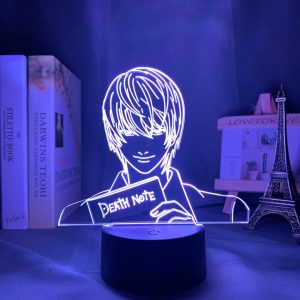 LIGHT YAGAMI LED ANIME LAMP (DEATH NOTE) Otaku0705 TOUCH+(REMOTE) Official Anime Light Lamp Merch